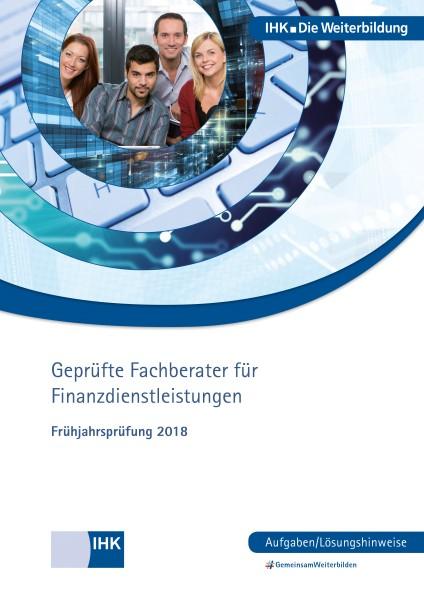 Cover von Geprüfte Fachberater für Finanzdienstleistungen eBook - Frühjahrsprüfung 2018